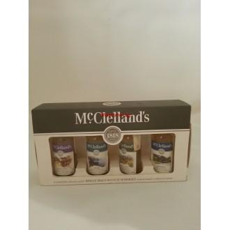 Уиски Макклеландс Сингъл Малц колекция миниатюри 4*0.05